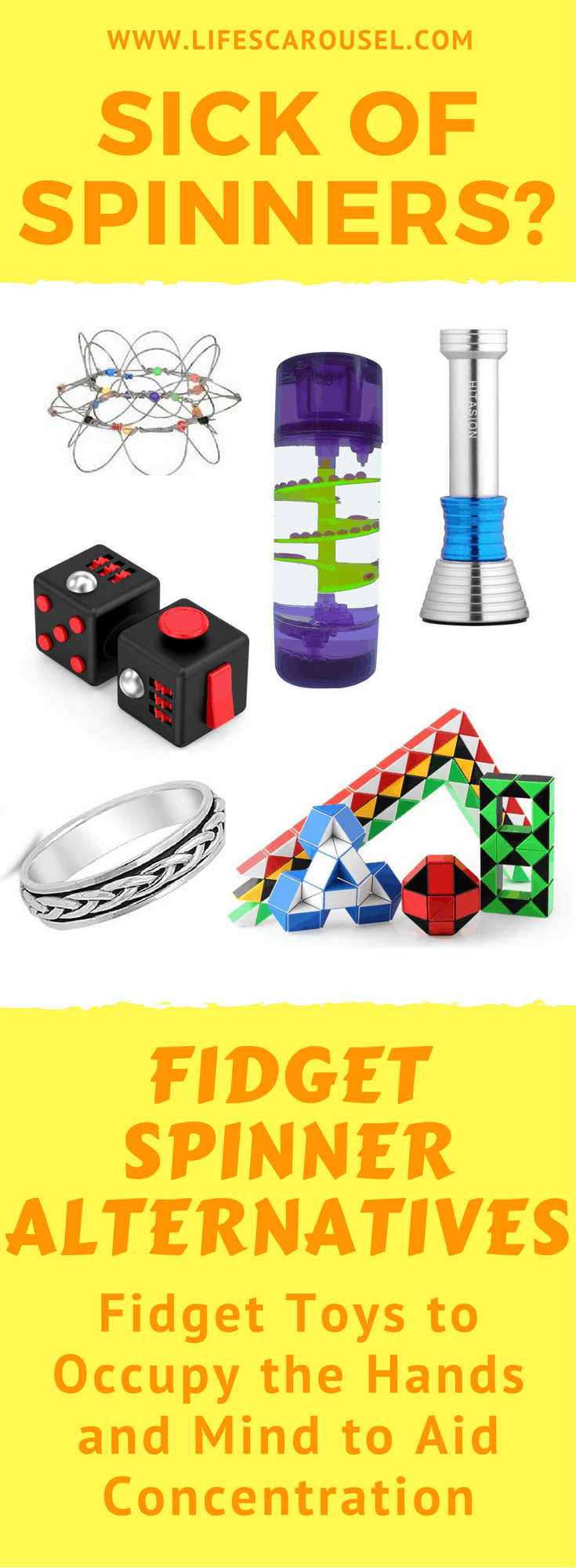 Fidget Spinner Alternatives | Bored of Fidget Spinners? Try this alternative fidget toys and ideas for any child (or adult) that can't sit still or needs something to fiddle with. Perfect for ADHD kids.