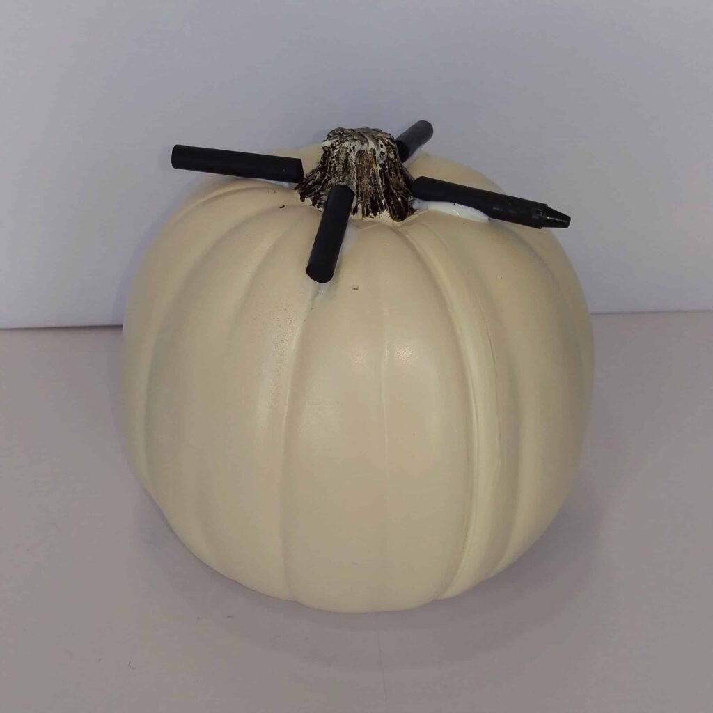 Fall Melted Crayon Pumpkin   Unique Pumpkin Decoration Perfect for Fall or Halloween Decor
