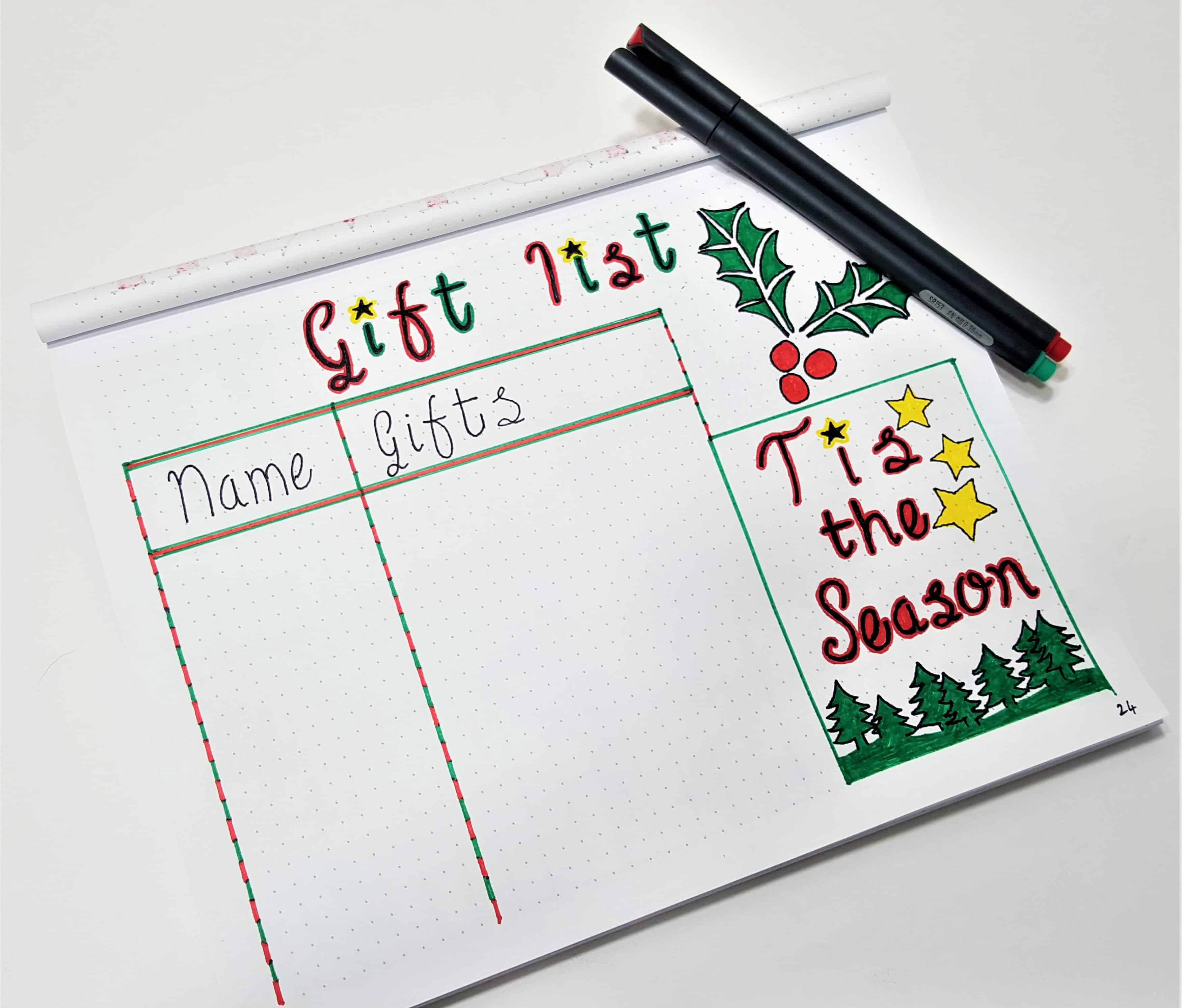 Bullet Journal Ideas to Make Life Easier - Christmas Bullet Journal | Getting ready for December and the Holiday Season with these useful Christmas BuJo spreads! Keep organized and stay sane this holiday season with Bullet Journals!