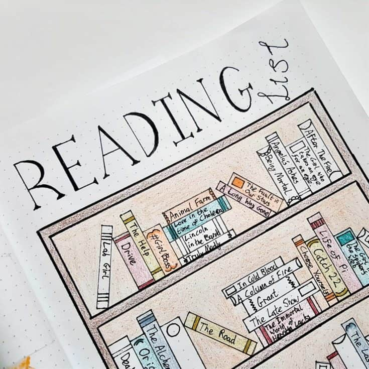 Reading Tracker Bullet Journal Ideas - Movies & TV Shows Too!