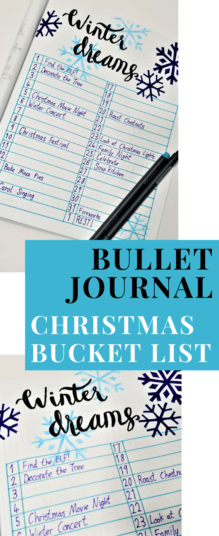 Christmas Bullet Journal   Getting ready for December and the Holiday Season with these useful Christmas BuJo spreads! Keep organized and stay sane this holiday season with Bullet Journals!