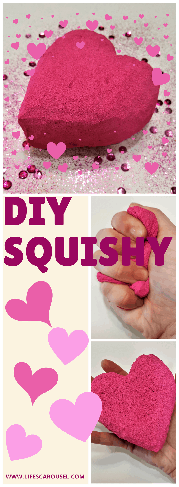 DIY Heart Squishie | How to make a squishy! Perfect for friend or classmate presents. Squishies are sooo popular right now - use these instruction for a homemade squishy.