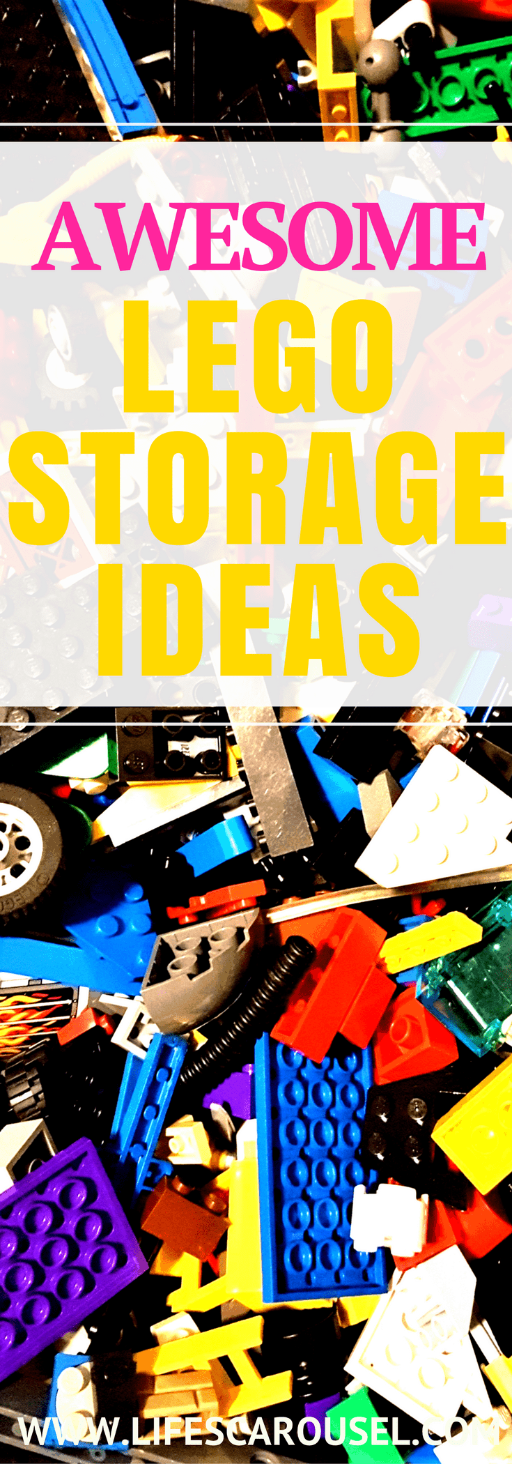 Lego Storage Ideas | The best ideas for storing Lego pieces, sets and minifgures. Lego table ideas. DIY Lego organzation, even using pieces from Ikea!