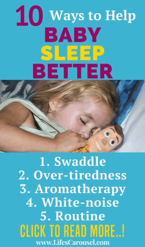 10 Ways to Help Your Baby Sleep Better | Awesome tips to get your baby to sleep through the night. Solve toddler sleep problems. No sleep training required! From swaddling to schedule, find the best ways to get your baby sleeping at night and nap time.