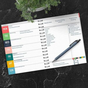 TF Publishing Planner - Weekly planner with big notes section and habit tracker