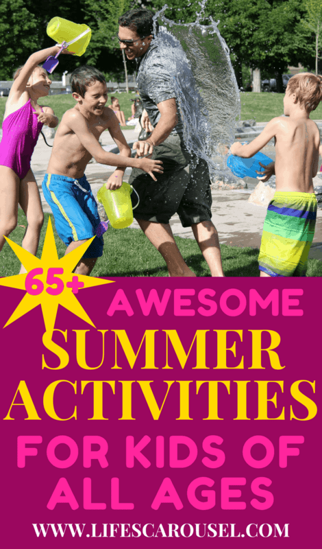 Kid-Approved Summer Activities | A complete guide to summer activities for kids. So many ideas - indoor, outdoor, messy, quiet, educational and more! Kids of all ages will love them - toddlers, preschoolers, teens, boys or girls! Have fun with summer! SAVE THIS PIN NOW and reference all summer long!