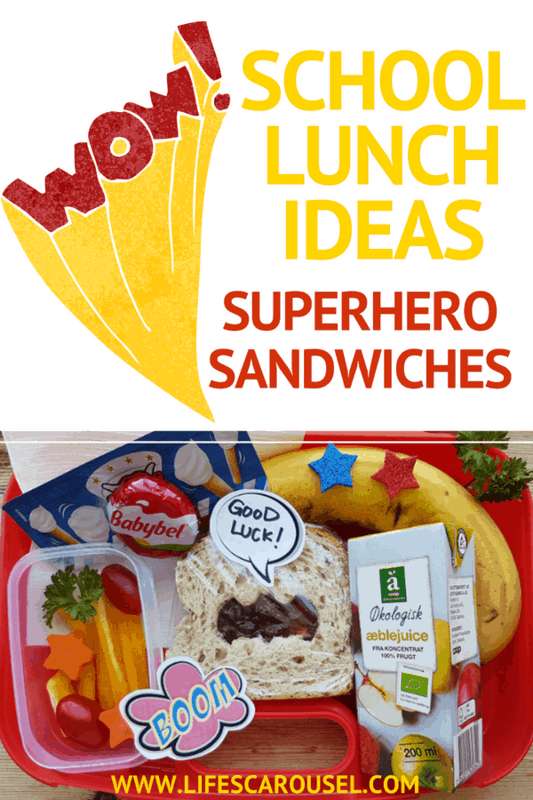 "School Lunch Ideas - Superhero Sandwich | AMAZING School lunch idea for kids. This superhero sandwich idea will make your kids say ""WOW""! School lunch will never be the same again! Quick, easy and tasty - perfect for picky eaters. This healthy bento box lunch is perfect for kids of all ages."