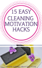 15 EASY Cleaning Motivation Hacks for the Lazy Cleaner - Don't want to clean, but know you should? These quick and easy motivation tips will get you cleaning in no time! Get your home clean and organized... even when you don't want to! Too tired to clean? Don't worry, you are NOT lazy... you just need the right motivation!