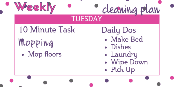 Easy Weekly Cleaning Schedule - Tuesday: Mop Floors