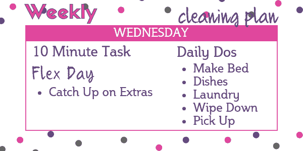 Easy Weekly Cleaning Schedule - Wednesday: Flex Day