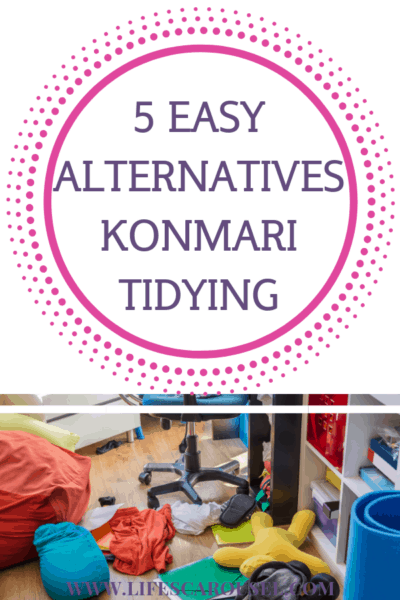 5 EASY Alternatives to KonMari Method - Find different ways of tidying up your home and getting organized! The KonMari Method is great, but it's not suitable for everyone - these 5 alternatives will help you find the right way to declutter your home.