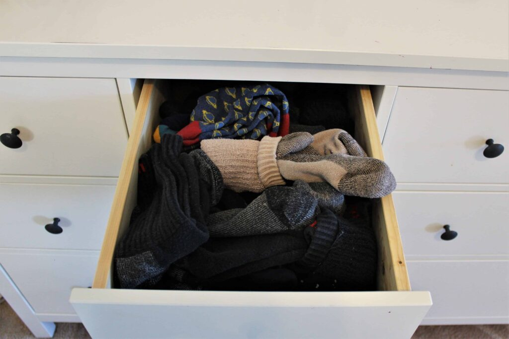 Socks Before KonMari Folding