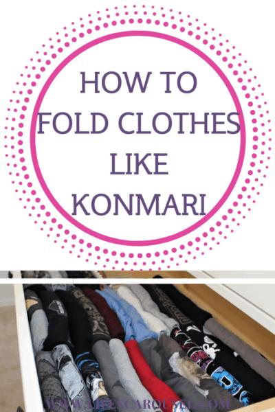 How to Fold Clothes the KonMari Method