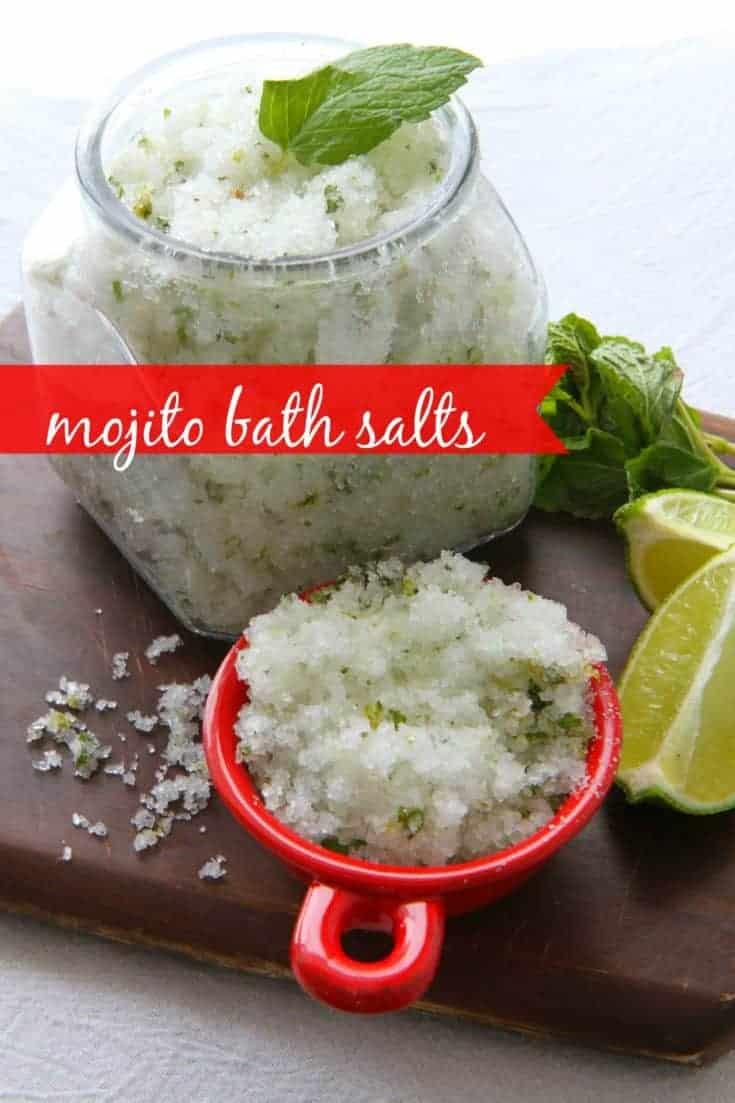 How to Make DIY Mojito Bath Salts