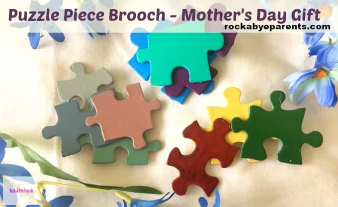 How To Make A Puzzle Piece Brooch – Mother's Day Gift Kids Craft