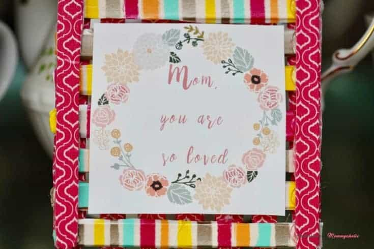 Mother's Day Frame DIY Washi Tape