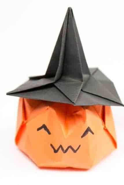Origami Jack O Lantern