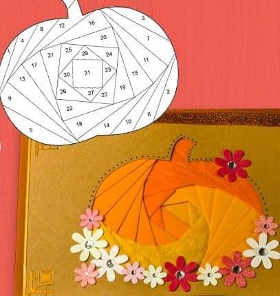 Pumpkin Iris Folding