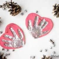 Salt Dough Handprint Ornament