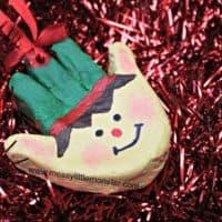 Elf Handprint Ornament