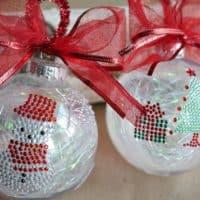 Simple Sticker Ornaments