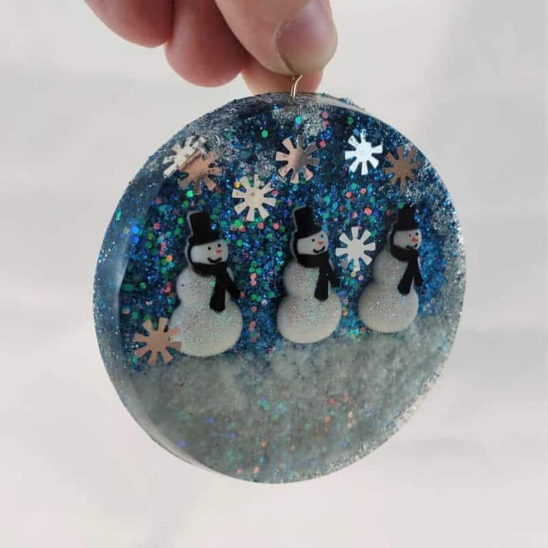 Snowmen Resin Ornaments
