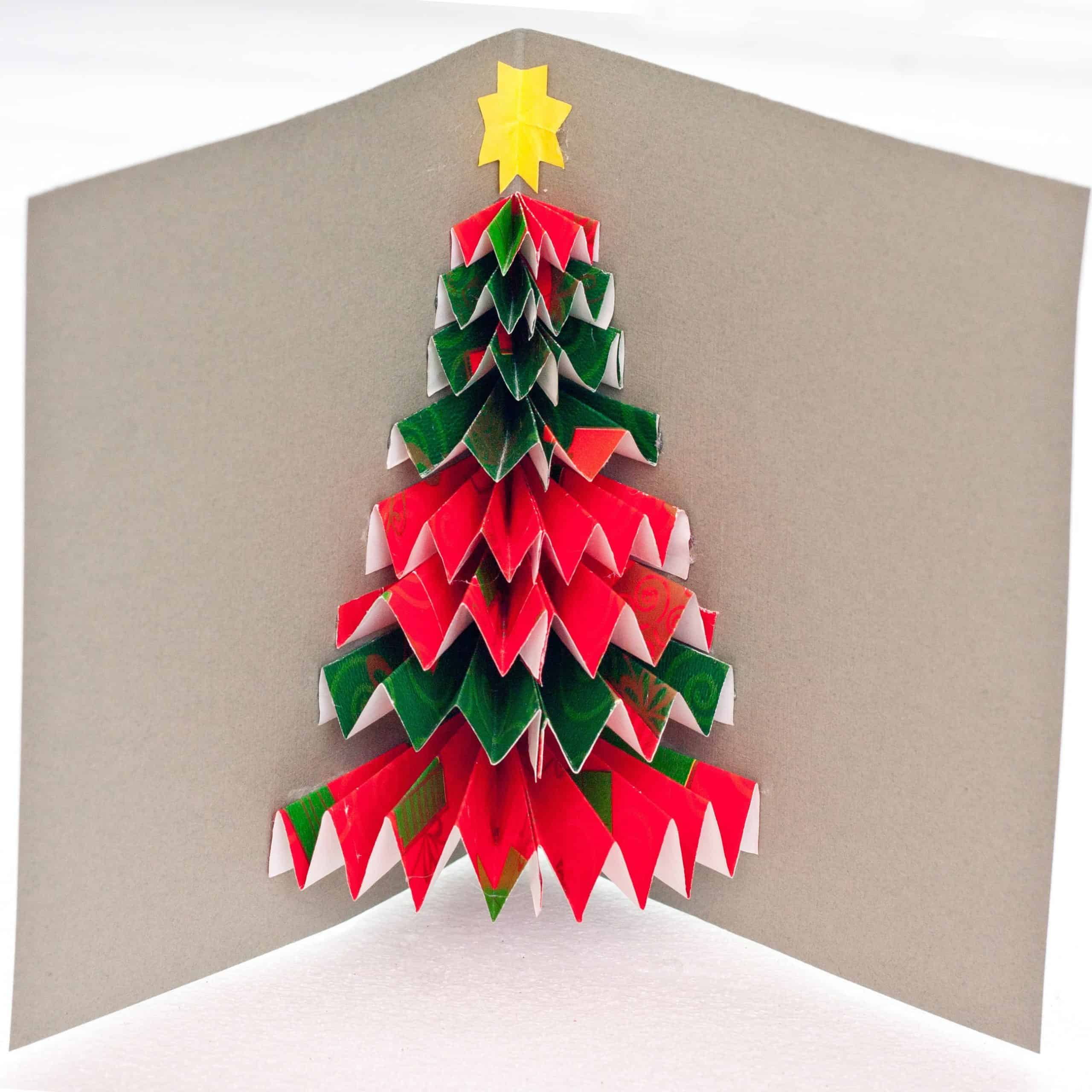 We Grow By Our Dreams: Origami Christmas Tree Tutorial | 2560x2560